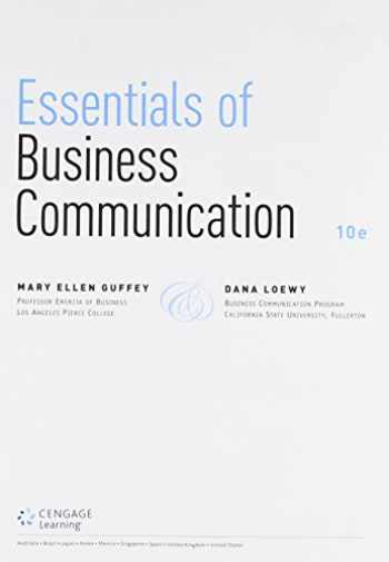 9781305699199-130569919X-Bundle: Essentials of Business Communication, Loose-Leaf Version, 10th + Premium Website, 1 term (6 months) Printed Access Card + LMS Integrated ... 1 term (6 months) Printed Access Card