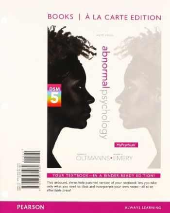 9780205971060-0205971067-Abnormal Psychology, Books a la Carte Edition (8th Edition)