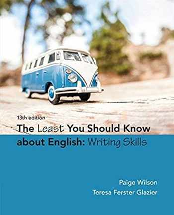 9781305960947-1305960947-The Least You Should Know About English: Writing Skills