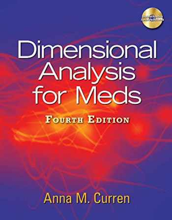 9781435438675-1435438671-Dimensional Analysis for Meds, 4th Edition