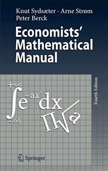 9783540260882-3540260889-Economists' Mathematical Manual