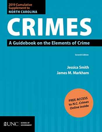 9781560119777-1560119772-2019 Cumulative Supplement to North Carolina Crimes: A Guidebook on the Elements of Crime