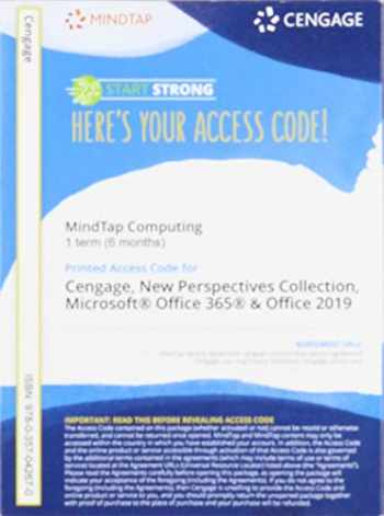 9780357042670-0357042670-MindTap for Carey/Pinard/Shaffer/Shellman/Vodnik's The New Perspectives Collection, Microsoft Office 365 & Office 2019, 1 term Printed Access Card (MindTap Course List)