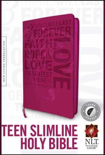 9781496407740-1496407741-Teen Slimline Bible NLT, Index (Red Letter, LeatherLike, Hot Pink, Indexed)