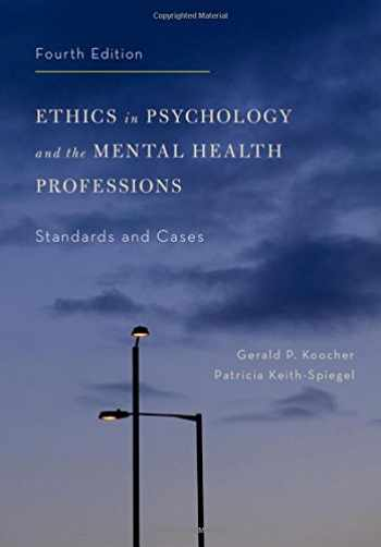 9780199957699-019995769X-Ethics in Psychology and the Mental Health Professions: Standards and Cases