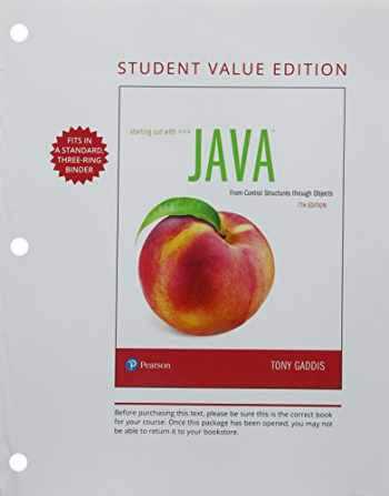 9780134802817-0134802810-Starting Out with Java: From Control Structures through Objects, Student Value Edition (7th Edition)