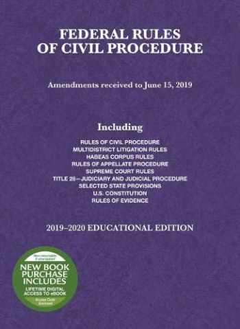 9781684672240-1684672244-Federal Rules of Civil Procedure, Educational Edition, 2019-2020 (Selected Statutes)