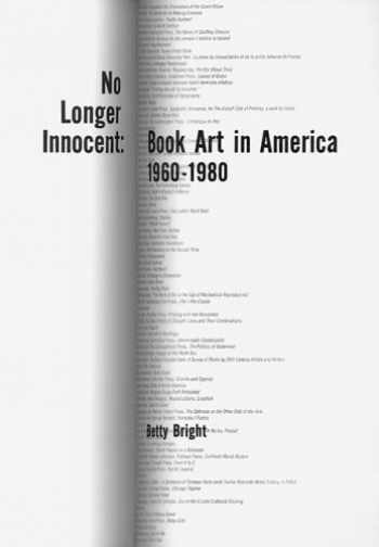 9781887123716-1887123717-No Longer Innocent: Book Art In America 1960-1980