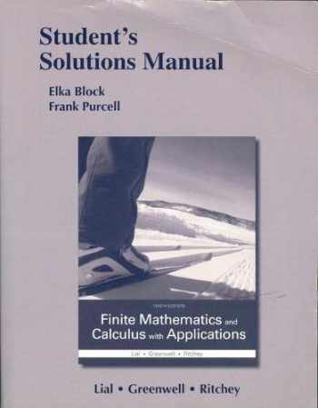9780133920659-0133920658-Student's Solutions Manual for Finite Mathematics and Calculus with Applications