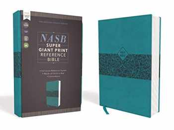 9780310454960-0310454964-NASB, Super Giant Print Reference Bible, Leathersoft, Teal, Red Letter, 1995 Text, Comfort Print