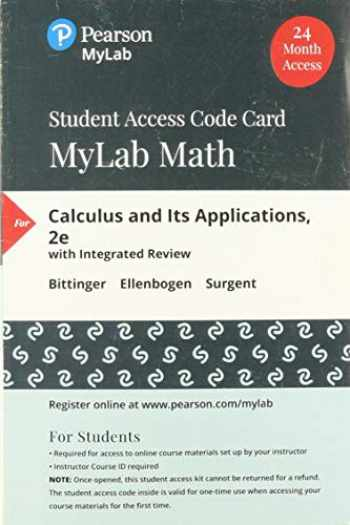 9780135218235-0135218233-MyLab Math with Pearson eText -- Standalone Access Card -- for Calculus and Its Applications
