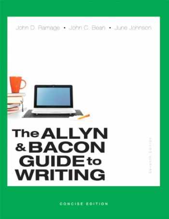 9780321914309-0321914309-Allyn & Bacon Guide to Writing, The, Concise Edition (7th Edition)