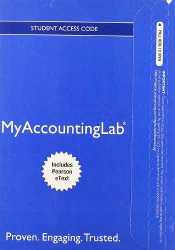 9780133451481-0133451488-NEW MyLab Accounting with Pearson eText -- Access Card -- for Managerial Accounting
