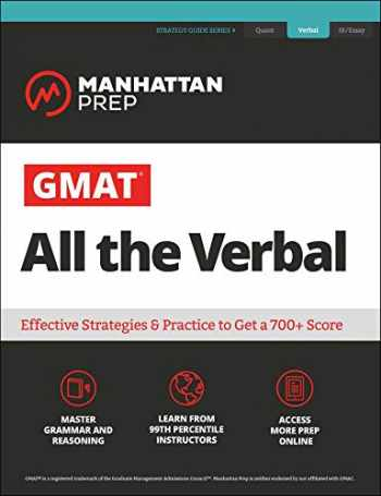 9781506249049-1506249043-GMAT All the Verbal: The definitive guide to the verbal section of the GMAT (Manhattan Prep GMAT Strategy Guides)