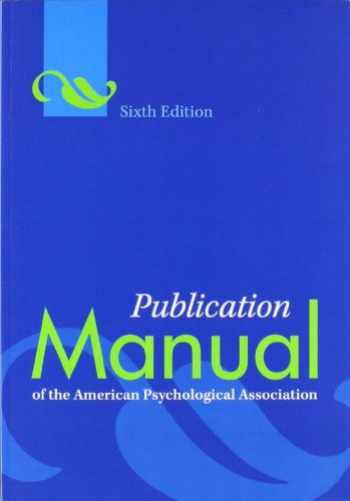 9781433805615-1433805618-Publication Manual of the American Psychological Association, 6th Edition