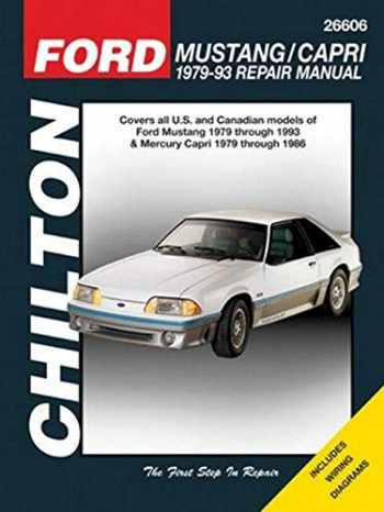 9781563929953-1563929953-Chilton Total Car Care Ford Mustang 1979-1993 & Mercury Capri 1979-1986 Repair Manual (Chilton's Total Car Care Repair Manuals)