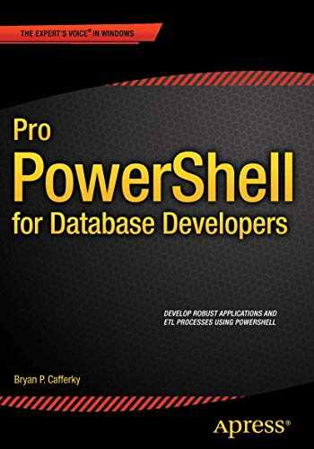 9781484205426-1484205421-Pro PowerShell for Database Developers