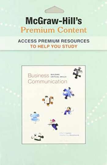 9780073531786-0073531782-Premium Content Card t/a Business Communication:  Buildling Critical Skills