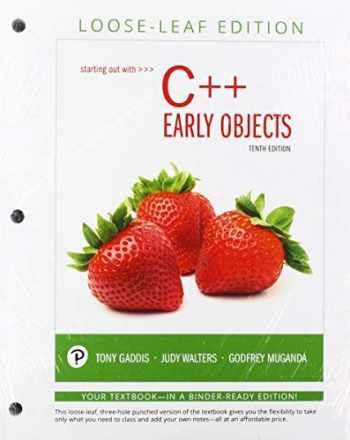 9780135241004-0135241006-Starting Out with C++: Early Objects, Loose-Leaf Edition