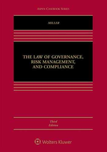 9781543812763-1543812767-The Law of Governance, Risk Management and Compliance (Aspen Casebook)