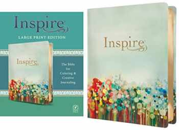 9781496419866-1496419863-Inspire Bible Large Print NLT (LeatherLike, Floral Fields with Gold): The Bible for Coloring & Creative Journaling