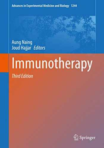 9783030410070-3030410072-Immunotherapy (Advances in Experimental Medicine and Biology (1244))
