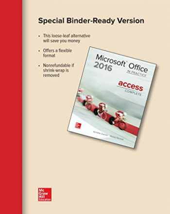 9781259911101-1259911101-Looseleaf for Microsoft Office Access 2016 Complete: In Practice