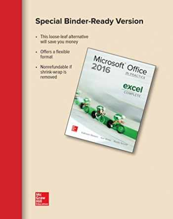 9781259911095-1259911098-Looseleaf for Microsoft Office Excel 2016 Complete: In Practice