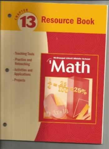 9780618260966-061826096X-McDougal Littell Middle School Math, Course 1: Resource Book Chapter 13