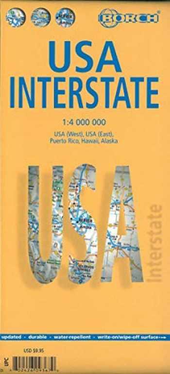 9783866093676-3866093675-Laminated USA Interstate Map by Borch (English Edition)