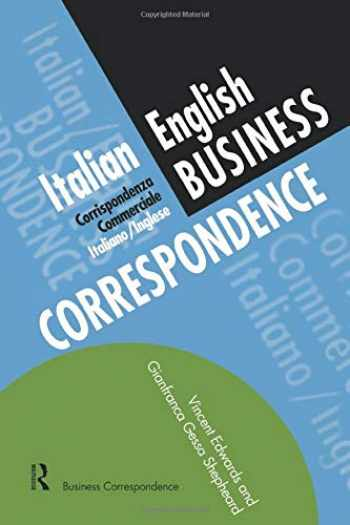 9780415137119-041513711X-Italian/English Business Correspondence (Languages for Business)