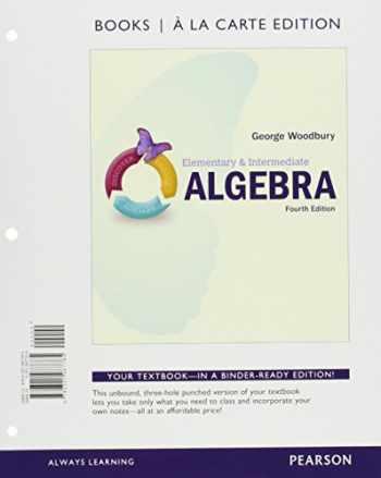 9780134265179-0134265173-Elementary & Intermediate Algebra, Books a la Carte Edition, plus MyLab Math -- Access Card Package