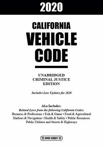 9781563255762-1563255766-2020 CALIFORNIA VEHICLE CODE UNABRIDGED