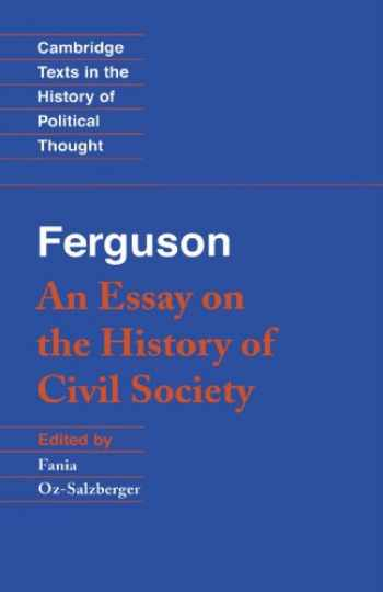 9780521447362-0521447364-An Essay on the History of Civil Society (Cambridge Texts in the History of Political Thought)