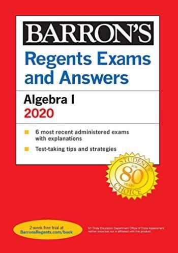 9781506253831-1506253830-Regents Exams and Answers: Algebra I 2020 (Barron's Regents NY)