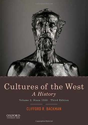 9780190070434-0190070439-Cultures of the West: A History, Volume 2: Since 1350