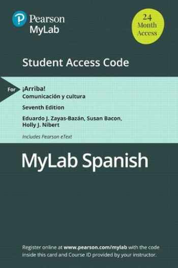 9780135243848-013524384X-MLM MyLab Spanish with Pearson eText for ¡Arriba!: Comunicación y cultura -- Access Card (Multi-Semester)