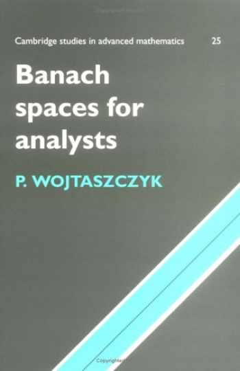9780521566759-0521566754-Banach Spaces for Analysts (Cambridge Studies in Advanced Mathematics)