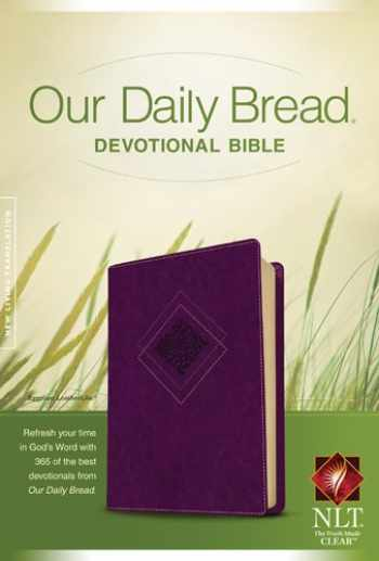 9781414361987-141436198X-Our Daily Bread Devotional Bible NLT (LeatherLike, Eggplant)
