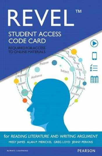 9780134311838-0134311833-Revel for Reading Literature and Writing Argument -- Access Card (6th Edition)