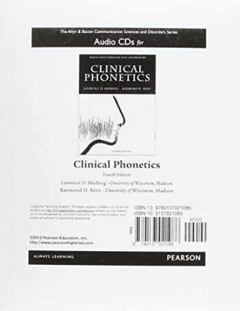 9780137021086-0137021089-Audio CDs for Clinical Phonetics (The Allyn & Bacon Communication Sciences and Disorders Series)
