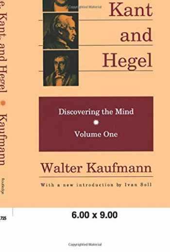 9780887383700-088738370X-Goethe, Kant, and Hegel: Discovering the Mind. Volume one.