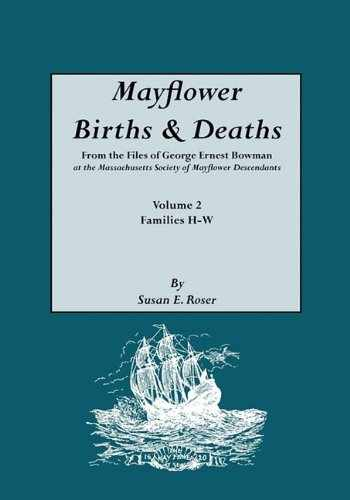 9780806313399-0806313390-Mayflower Births & Deaths, from the Files of George Ernest Bowman at the Massachusetts Society of Mayflower Descendants. Volume 2, Families H-W. Index