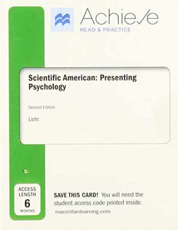 9781319242428-1319242421-Achieve Read & Practice for Scientific American: Presenting Psychology (Six-Months Access)