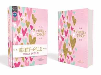 9780310768524-0310768527-NIV, Heart of Gold Holy Bible, Hardcover, Red Letter, Comfort Print