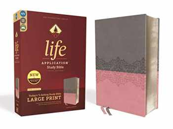 9780310452966-0310452961-NIV, Life Application Study Bible, Third Edition, Large Print, Leathersoft, Gray/Pink, Red Letter