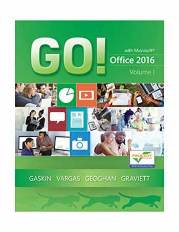9780134320779-0134320778-GO! with Office 2016 Volume 1 (GO! for Office 2016 Series) - Standalone book