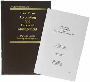9781588524041-1588524043-Law Firm Accounting and Financial Management (Sixth Edition)