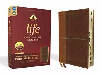 9780310453031-0310453038-NIV, Life Application Study Bible, Third Edition, Personal Size, Leathersoft, Brown, Red Letter, Thumb Indexed