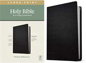 9781496444905-1496444906-NLT Large Print Thinline Reference Holy Bible (Red Letter, LeatherLike, Cross Grip Black): Includes Free Access to the Filament Bible App Delivering Study Notes, Devotionals, Worship Music, and Video